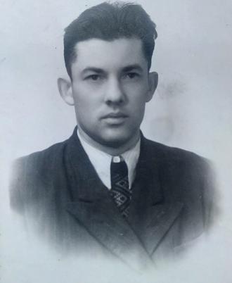 Володимир Покотило в юнацькі роки 1950 рік.